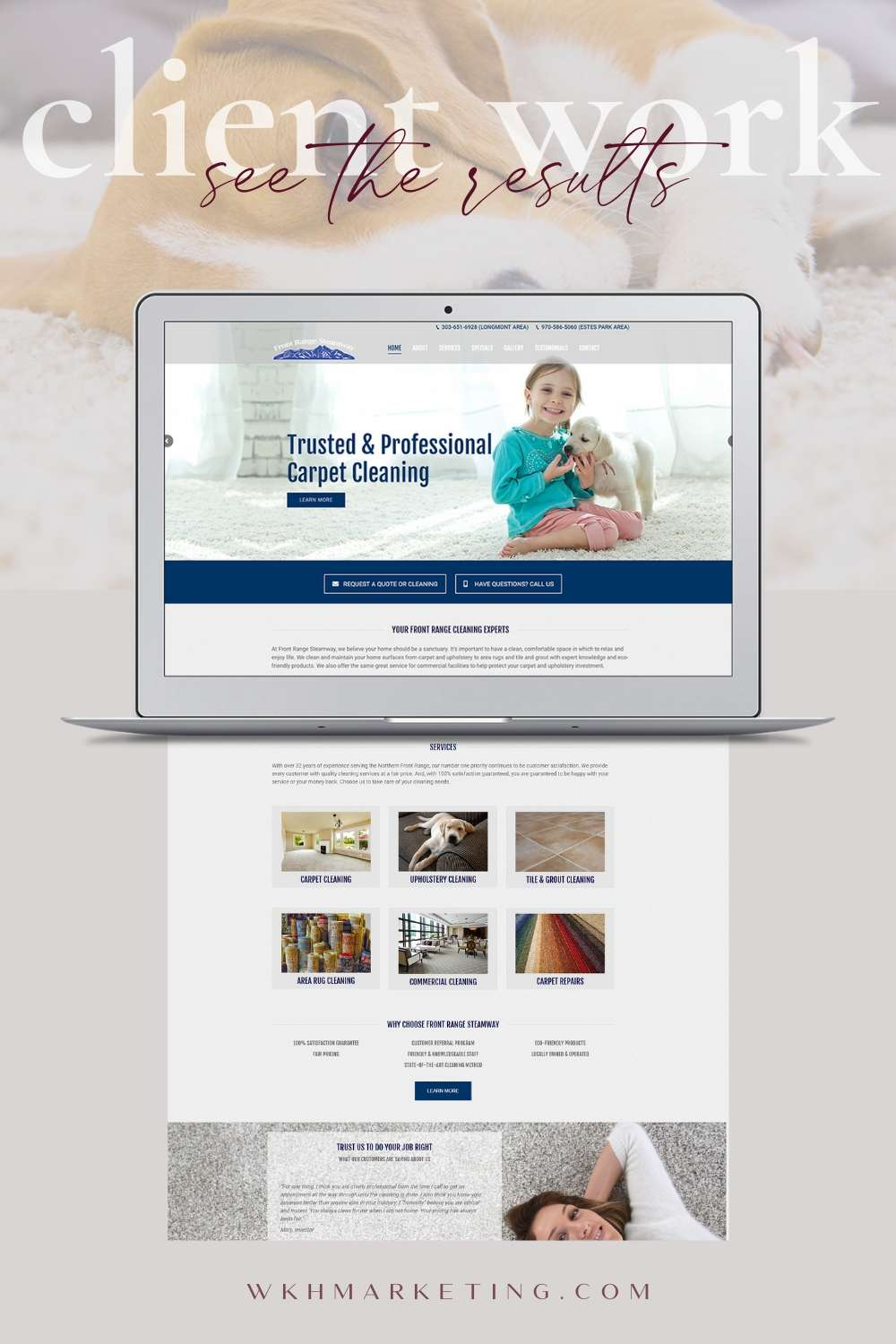 Web Design For Carpet Cleaning Business