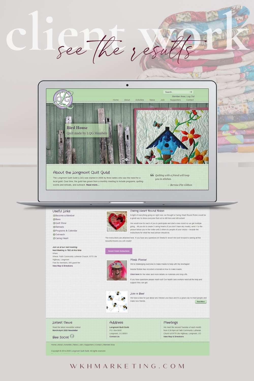 Web Design for Longmont NonProfit