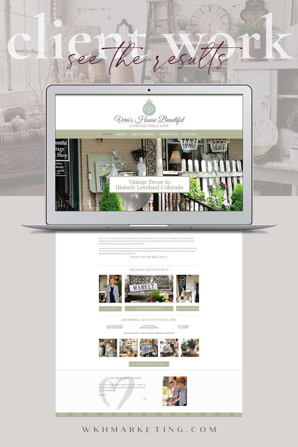 Web Design Retail Store